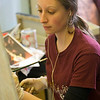 Students working in art studios. Photographer: P. Scott Barrow