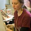 Students working in art studios. Photographer: P. Scott Barrow