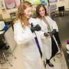 Student interns in Professor Ewan McNay's lab