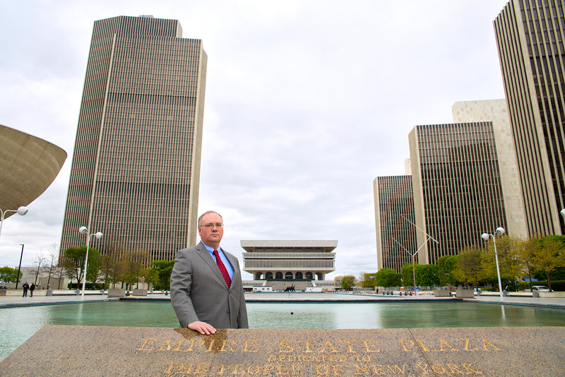 May 5, 2016 - David Hochfelder portrait at the Empire State Plaza for the 2016 Research Report<br /> Photos by Paul Miller