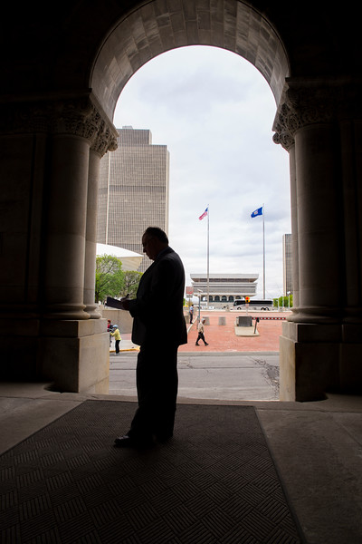 May 5, 2016 - David Hochfelder portrait at the Empire State Plaza for the 2016 Research Report<br /> Photo by Paul Miller