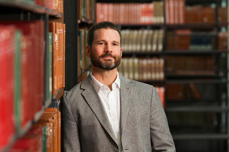 Portrait of History Professor Rick Fogary.<br /> Photographer: Paul Miller