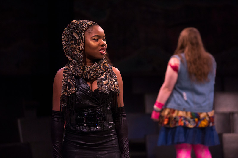 The UAlbany Theater Department production of Godspell on October 18, 2018 at the Performing Arts Center's Arena Theater. (photo by Patrick Dodson)