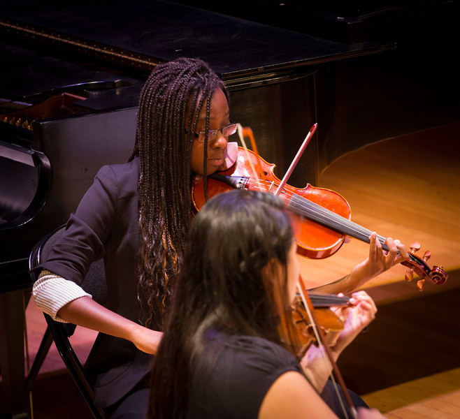 """As part of Celebrate & Advance UAlbany week, the College of Arts and Sciences and the Division for Research hosted 'A Celebration of Research, Scholarship and Creative Activity."""" The event featured music performances and Ted Talks-styled presentations. Photographer: Paul Miller"""