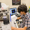 student researchers with faculty in biology and RNA activities in labs in the Life Science Building photo: Mark Schmidt