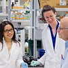 Jenny Su, undergraduate student, Kathryn Sarachan, Post Doc, Agris Lab; Dr. Paul F Agris, Director, The RNA Institute