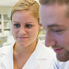 Janeen Bell and Spencer Weintraub, undergraduate students, Agris Lab