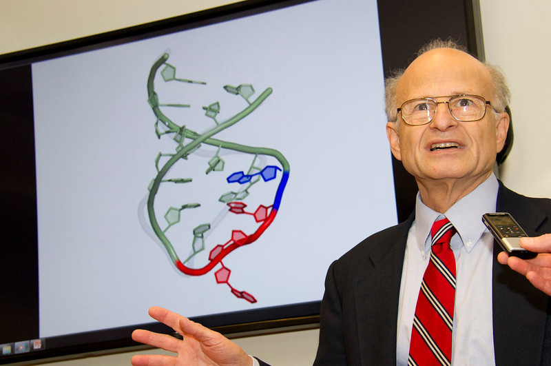The RNA Institute Director Paul Agris gives a presentation.<br /> Photographer: Mark Schmidt