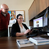 Researchers Amber Silver and Sam Jackson, founders of the Crisis Informatics Lab, at the University at Albany's College of Emergency Preparedness Homeland Security and Cybersecurity (CEHC) on Friday, October 19, 2018. (photo by Patrick Dodson)