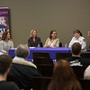 """The College of Emergency Preparedness, Homeland Security and Cybersecurity (CEHC) inaugural """"State of Grace,"""" a five-day conference to celebrate women in science, technology, engineering, the arts and mathematics (STEAM), with a Emergency Managers Panel moderated by Samantha Phillips, National Center for Security and Preparedness, in the Campus Center Ballroom at the University at Albany on Wednesday, September 26, 2018. (photo by Patrick Dodson)"""