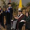 Dr. Nancy Blattner and Dr. Jason Sommer present Batya Abramson-Goldstein with the Jason Sommer Dedicated Semester award.