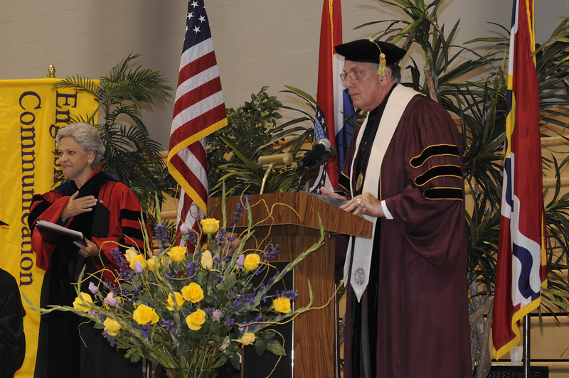 Dr. Dennis Golden thanks Dr. Ada Maria Isasi-Diaz for her speech and for her inspiration to the University.