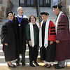 Pictured, from left, Dr. Nancy Blattner, Fontbonne vice president and dean for academic affairs, Dr. Jason Sommer, Batya Abramson-Goldstein, Dr. Ada Maria Isasi-Diaz, academic convocation speaker, and Dr. Dennis Golden, Fontbonne president.