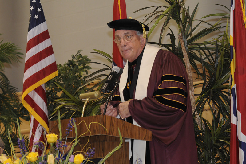 Dr. Dennis Golden, Fontbonne President, speaks to the Convocation audience.
