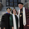 Pictured, from left, Dr. Nancy Blattner, Fontbonne vice president and dean for academic affairs,  Batya Abramson-Goldstein, and Dr. Dennis Golden, Fontbonne president.