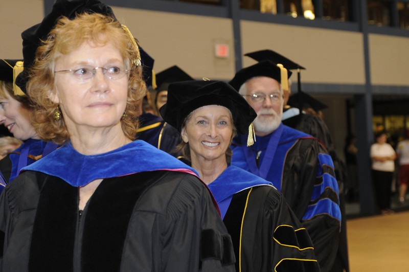 Faculty take their seats at the 2008 Convocation Ceremony.