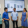 Student interns working at the Center For Technology In Government.  (Photo by Mark Schmidt)