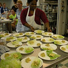 Students preparing food samples