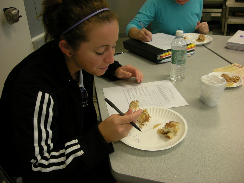 Students conducting taste testing