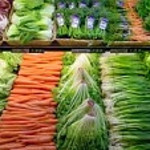 Fresh vegetables at a grocery store.