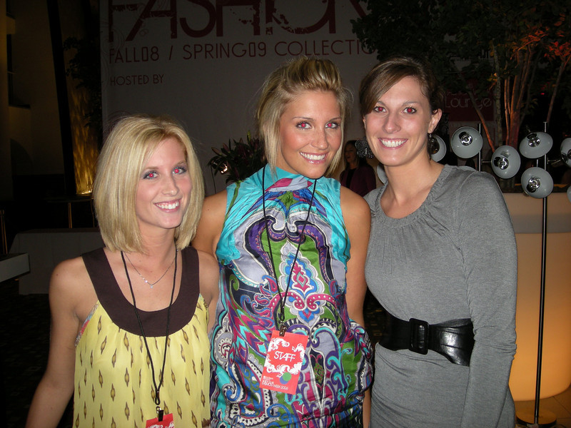 Students attending Fashion Week 08