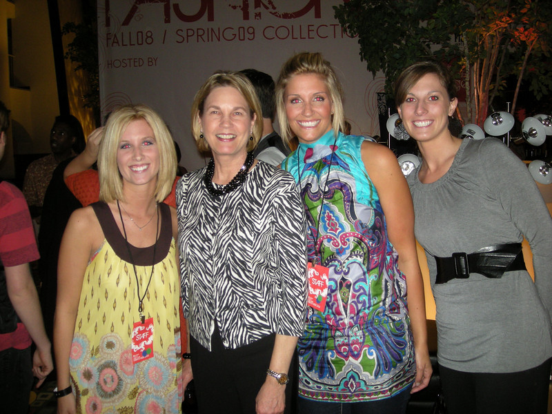 Students and faculty member, Rogene Nelsen, attending Fashion Week 08