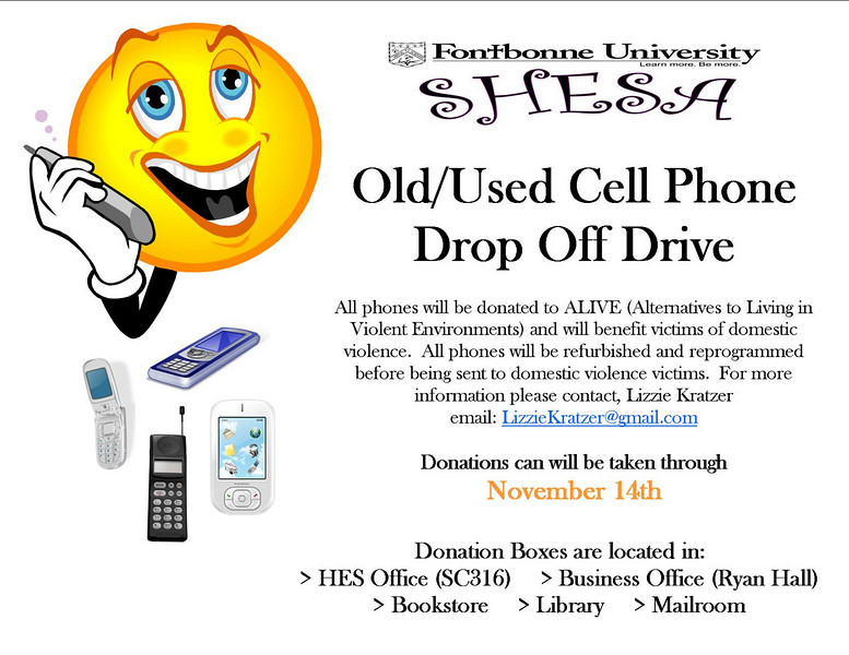 Cell Phone Drop off campaign