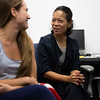 Tomoko Udo, Assistant Professor Department of Health Policy, Management and Behavior, working with graduate assistants inside the University at Albany Life Sciences Building in Rensselaer on July 23, 2018. (photo by Patrick Dodson)