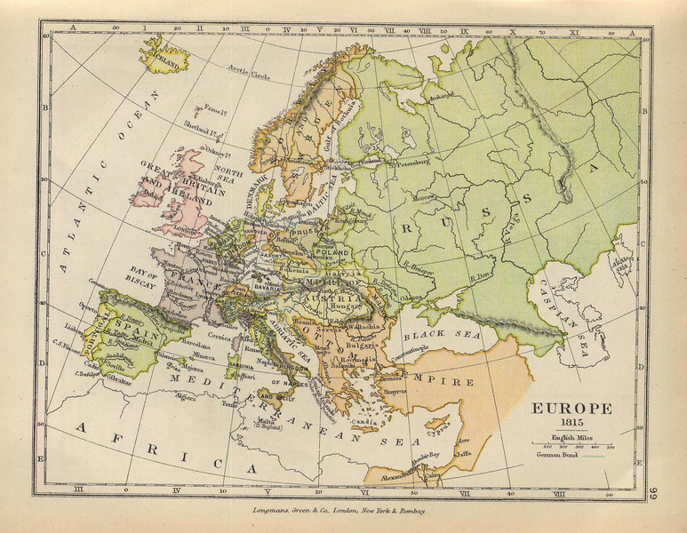 Map showing Bosnia's position at the Ottoman Empire's northern border with Austria-Hungary.  In 1878, Bosnia would fall under the control of Austria-Hungary.  Courtesy of the University of Texas Libraries.