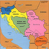 Republics constituting the former Yugoslavia. Courtesy of the University of Texas Libraries.