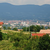 View of Prijedor from the nearby village of Hambarine. Photograph by Patrick McCarthy.