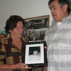 Sabiha and Rešad Kulenović hold a photograph of a son killed near Prijedor.  His body has never been found. Photograph by Benjamin Moore.