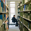 Students gather in the library to study and hang out.  2008.  Photographer: P. Scott Barrow