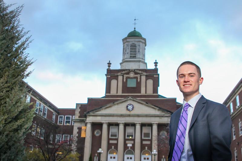Rockefeller College student Vin Giannone