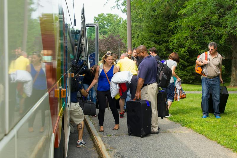 2015  Weekend MBA cohort members prepare to depart for Peru.  Photographer: Paul Miller