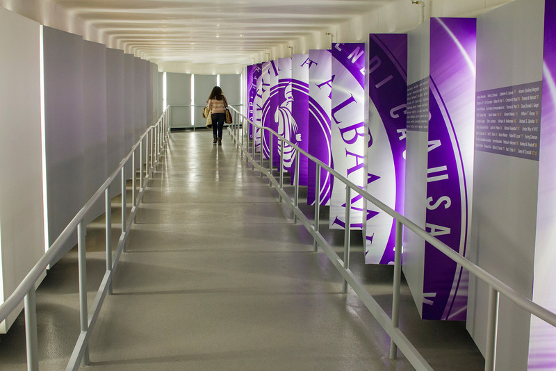 Images of the the School of Business Donors' Tunnel.  Photographer: Paul Miller