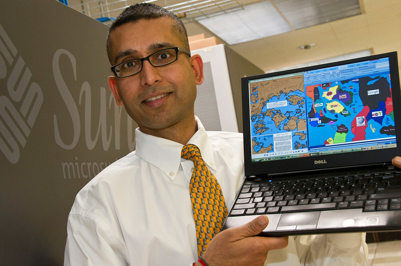 Professor Sanjay Goel develops cyber security measures to thwart computer crime.