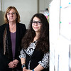 Researchers Allisa Worden and Reveka Shteynberg pose for photographs at the University at Albany School of Criminal Justice on Friday, October 19, 2018. (photo by Patrick Dodson)
