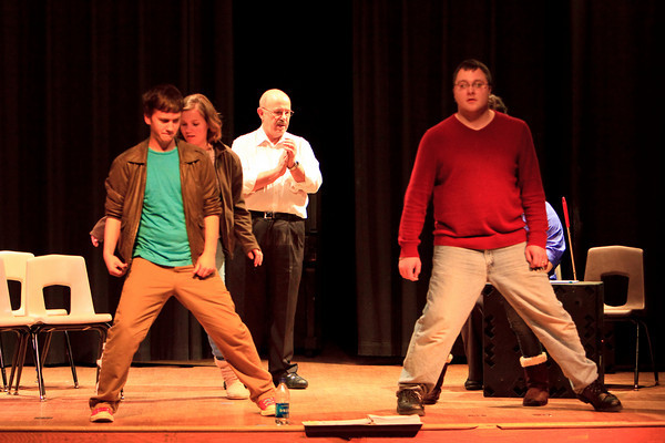 """Rehearsal for """"The 25th Annual Putnam County Spelling Bee"""" (Feb. '10)"""