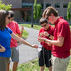 Area high school students attended a summer camp at UAlbany studying weather. (Photo by Mark Schmidt)