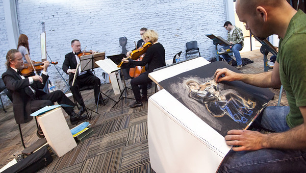 GR Symphony Quartet for Life Drawing 2012