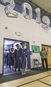 The 2019 commencement ceremony at Academy Charter High School in Lake Como, NJ on 6/20/19. [DANIELLA HEMINGHAUS | THE COAST STAR]
