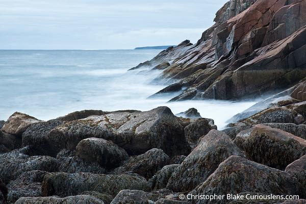 Sand Beach Rocks and Ocean - Acadia NP