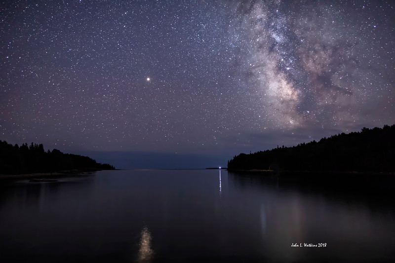 Mars and Milky Way Over Otter Cove