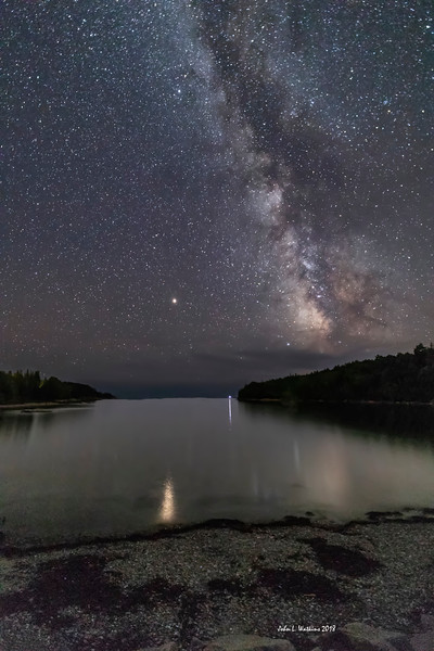 Milky Way and Mars at Otter Cove