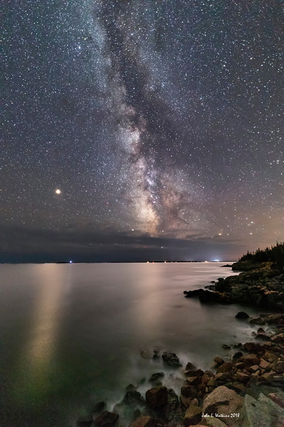 Mars, Milky Way and the Acadia Coast