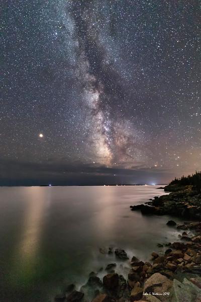 Mars, Milky Way and the Acadia Coast