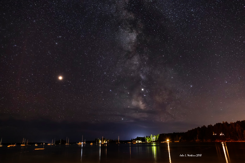 Milky Way and Mars at Seal Harbor