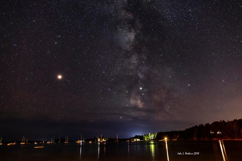 Milky Way and Mars at Seal Harbor