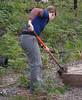 Naomi finishing off a silt trap.